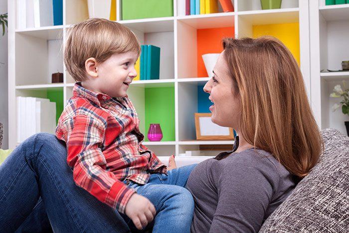 به حرف افتادن کودک