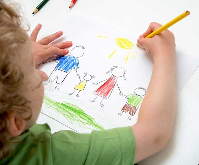 بیان احساسات کودک از طریق نقاشی
