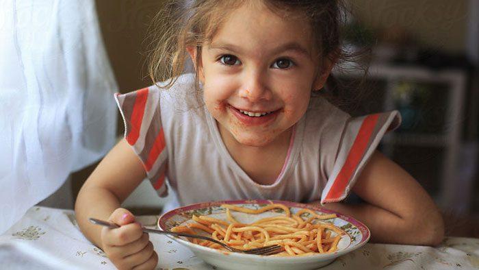 تزئین میان وعده های سالم - اسپاگتی