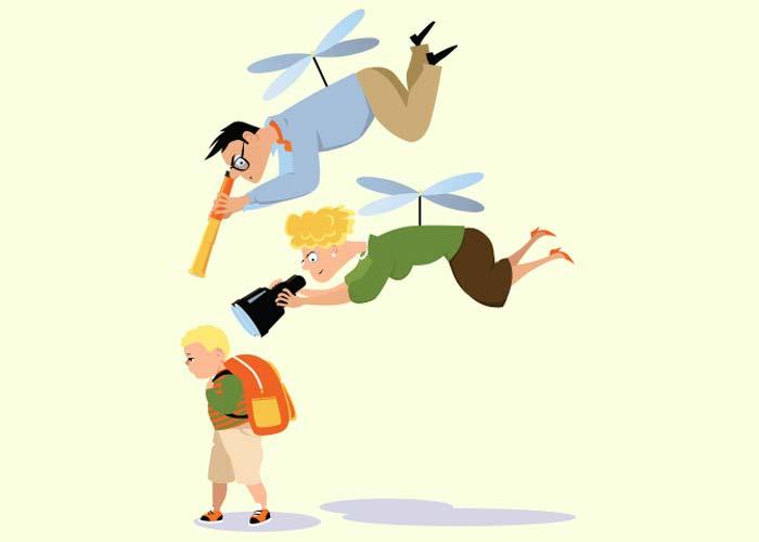 والدین هلیکوپتری - خودگرادنی و عملکرد مختل