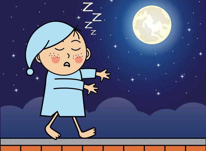 خوابگردی در کودکان - دلایل