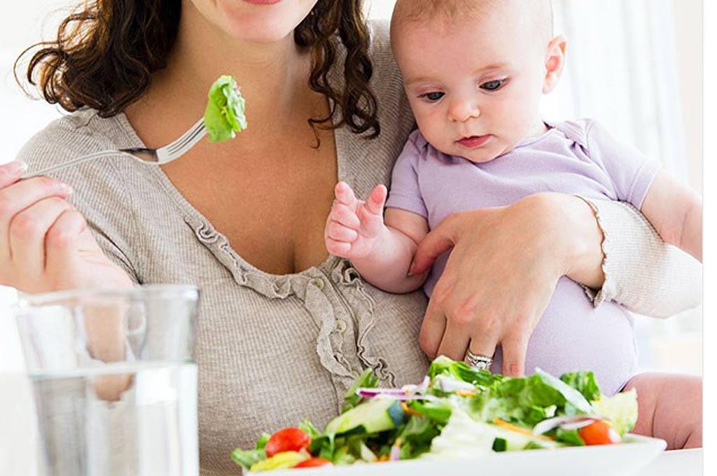 رژیم غذایی مناسب دوران شیردهی