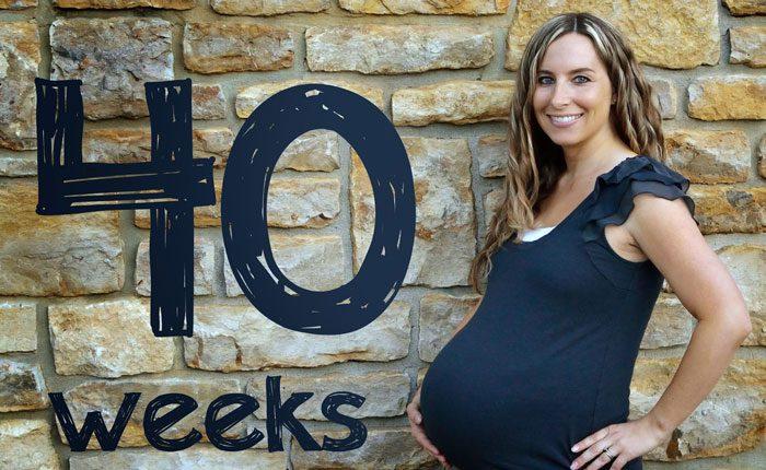 هفته ۴۰ بارداری - شکم مادر
