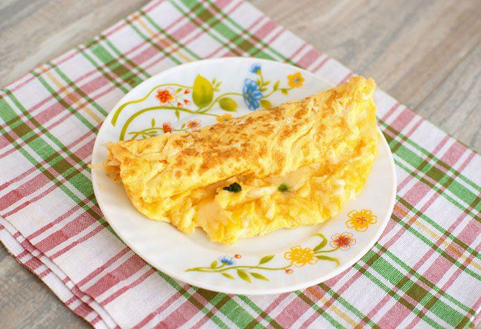 دستور غذای املت پنیر