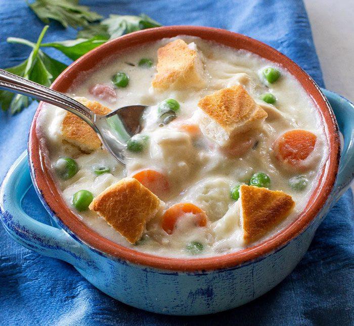 سوپ مرغ - تهیه