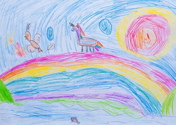معنی رنگ ها در نقاشی کودک