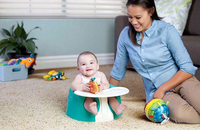 نشستن نوزاد - تقویت ماهیچه ها