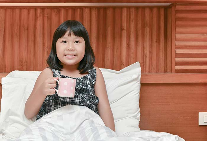 قهوه قبل از خواب برای کودک