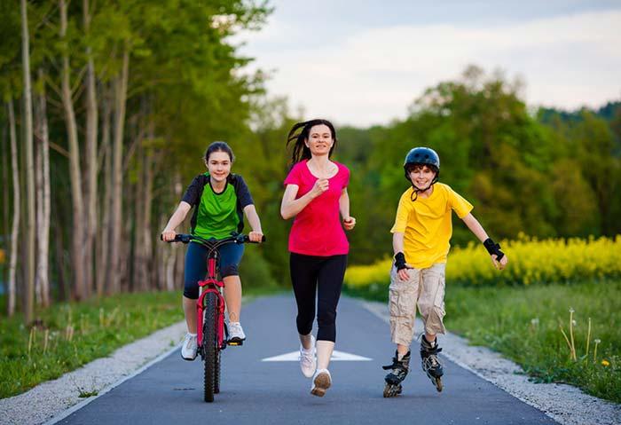 عادت های خوب کودکان ورزش منظم کودک