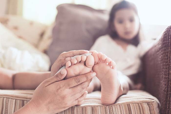 درد پا در کودک : خار پاشنه