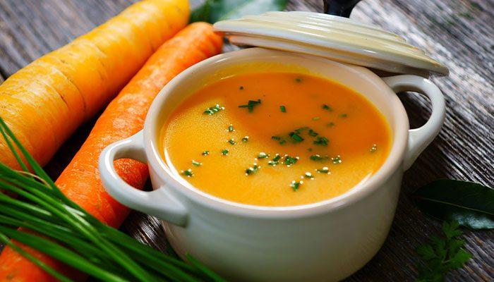 ۱.سوپ هویج و ماش