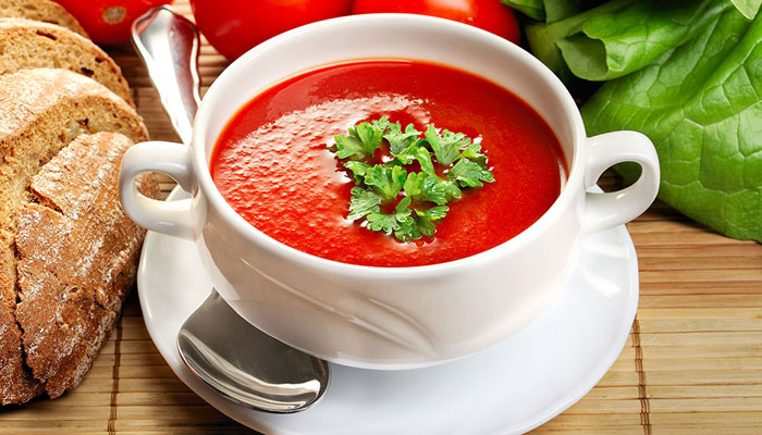 ۱. سوپ گوجه فرنگی