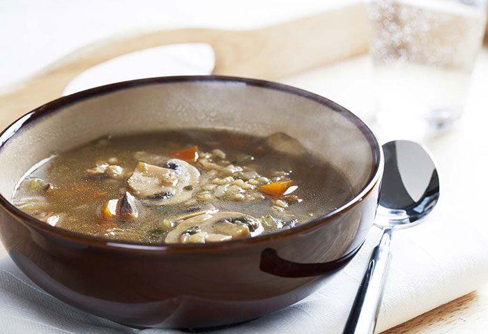 سوپ قارچ و جو