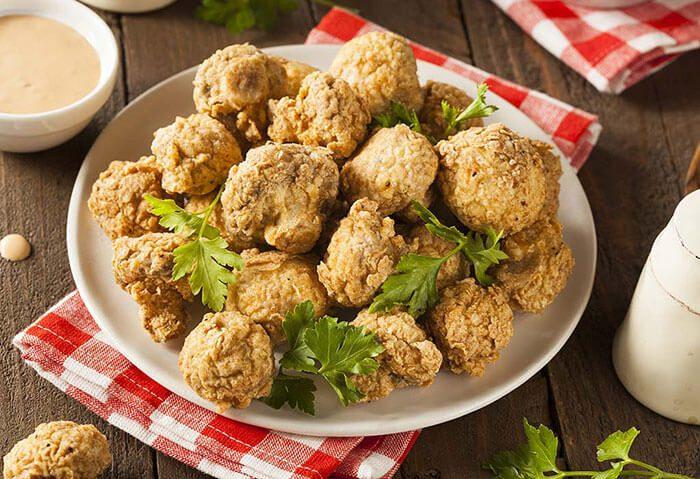 دستور غذایی قارچ سوخاری