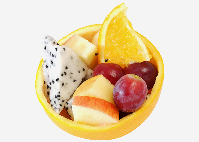 سالاد میوه به همراه پرتقال برای نوزادان