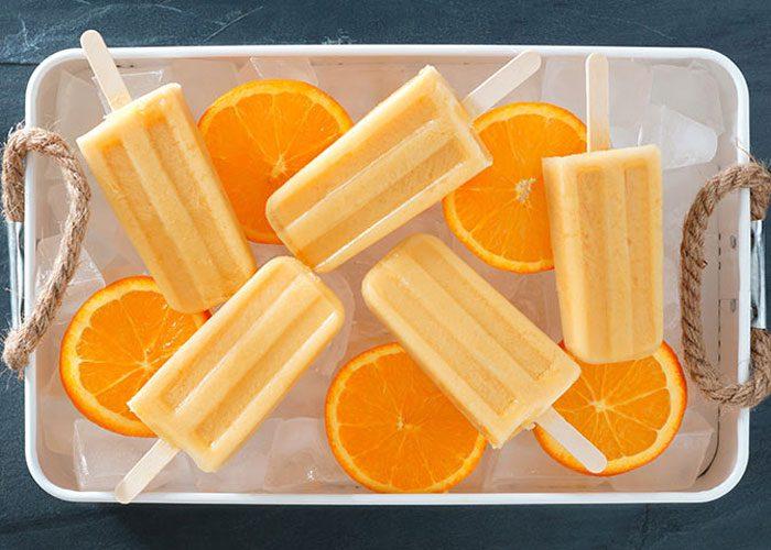 بستنی یخی پرتقالی برای کودکان