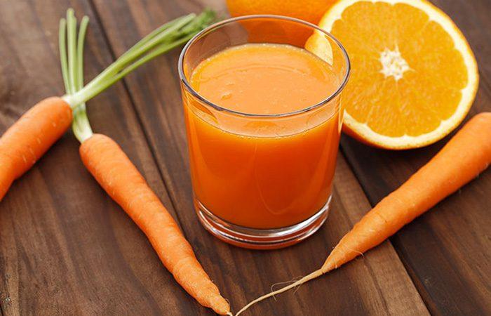 تهیه اسموتی برای بچه ها با پرتقال و هویج