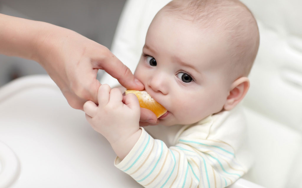 پرتقال برای نوزادان