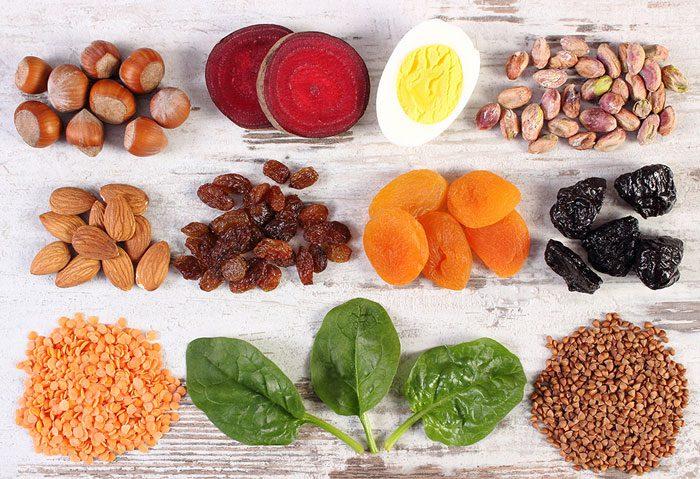 رژیم غذایی غنی از آهن