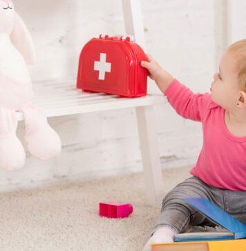 جعبه کمک های اولیه برای کودک