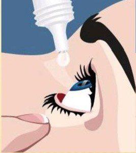 مصرف قطره چشم